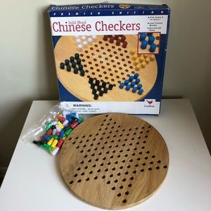 Chinese checkers solid wood board